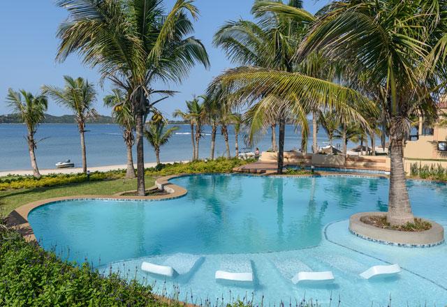 A tropical beach family holiday destination